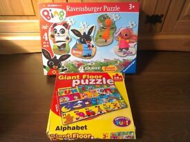 Bing Jigsaw CBeebies character Boxed nearly new + FREE alphabet floor puzzle