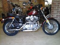EXCELLENT CONDITION CLASSIC SUPERB 1989 HARLEY DAVIDSON XLH883H EVO BECOMING RARER