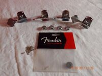 Fender Bass Guitar Machine Heads in Chrome with all fittings and screws
