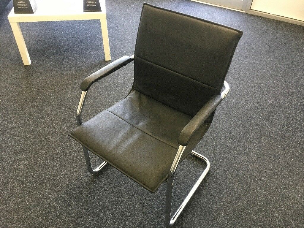 Office chairs X4 leather and chrome