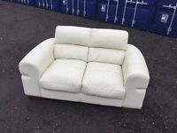 Italian Leather Sofa Excellent Condition , Free Delivery In Norwich.