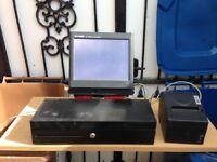 Cash register sharp terminal R2-x650 complete with cah box and printer