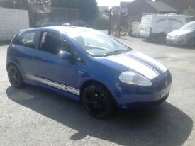2007 GRANDE PUNTO WITH 87,000 MILES FROM NEW, MOT OCTOBER, DRIVES WELL, IDEAL FIRST CAR