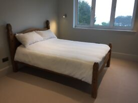 New Double bed ( Queen ) and new cashmere mattress used twice, v