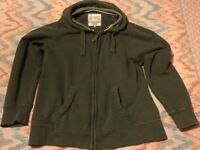Fat Face hoodie, full zip, green, hardly worn, size L