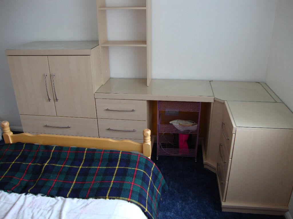 Hampshire Bedroom Furniture Range mfi hygena flat packed bedroom furniture in pearwood/ash maple