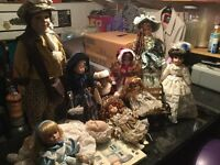 Lovely collection of China dolls