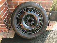 Vauxhal zafira tourer 17 inch space saver wheel and tyre