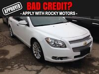 2011 Chevrolet Malibu LTZ  $61.28 A WEEK + TAX OAC - BAD CREDIT