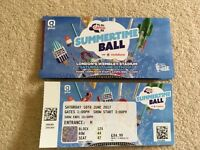 6 x Capital Summertime Ball 2017 Tickets For Sale - Excellent Seats With Great View Of Stage