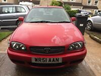 TOYOTA Corolla 2001 manual, 104k, MOT Aug 29 2 new front tyres, 2 keys.