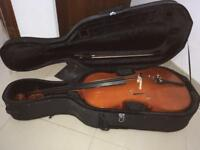 Cello with hard & soft cases, music etc in lovely condition and lovely tone