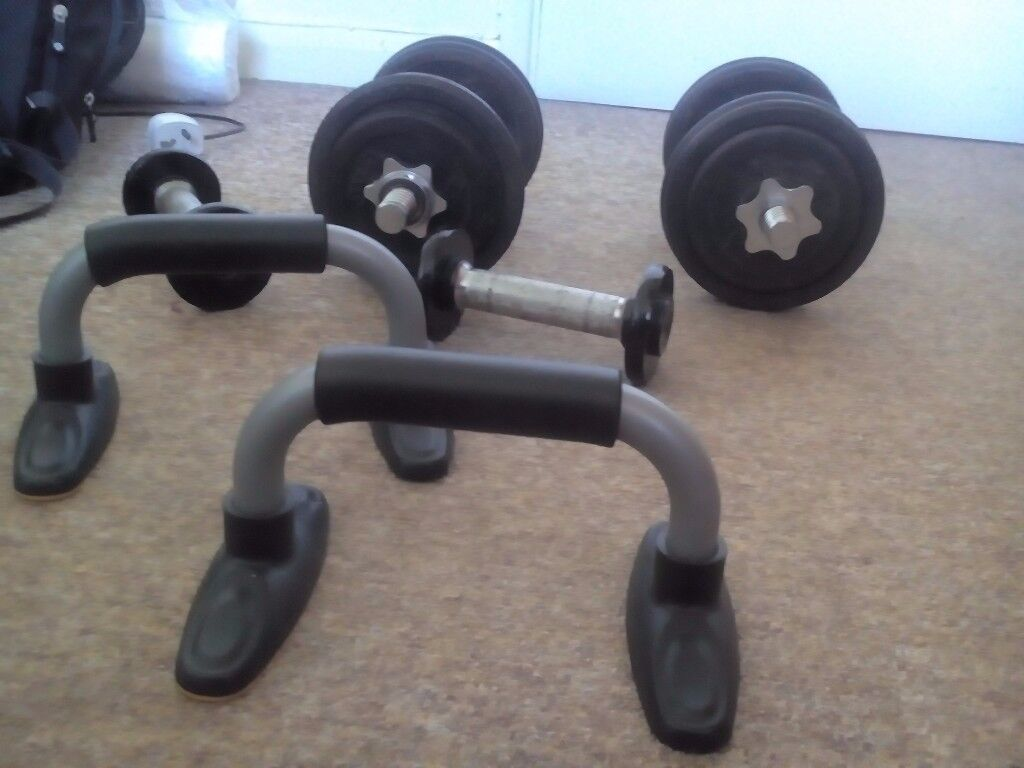 Dumbells and weights (price negotiable)
