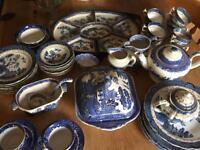 Willow Pattern Blue & White China