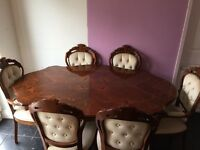 Dining table with 6 chairs only £200