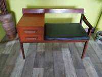 Mahogany Telephone Table For Reupholstery - Can Deliver For £19