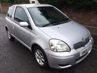 TOYOTA YARIS 1.3 VVT 3 DOOR HATCH ** 05 PLATE ** 50,000 MILES **