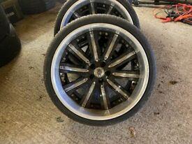 mercedes SL alloy wheel 20X11 WITH TYRES