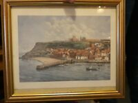 Framed signed whitby picture