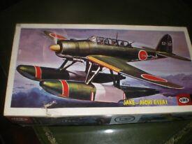 UPC un made plastic kit of a Jake -aichi E13A1, boxed rare 1/50 model kit NOT Air fix Tamiya