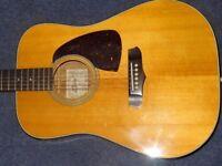 very rare 1981 aria acoustic guitar made in japan swap trade