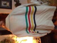 Vintage Hudson's Bay Wool 4 Point Trader Blanket Coat