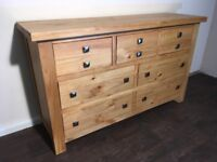 NEW solid pine sideboard EX DISPLAY. Free delivery in Belfast.RRP£549
