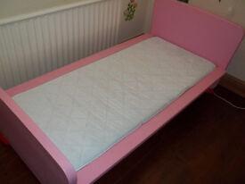 Ikea Mammut Pink Toddler Bed