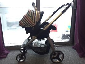 Hauck Pushchair, Carry Cot & Car Seat