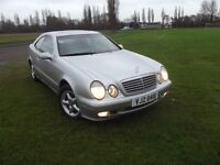 TRADE BARGAIN Mercedes CLK 230 Elegance 2Door 6 Speed Manual Sleek Coupe with Sunroof Full Leather