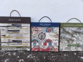 Large quantity of designer fabric books suitable for crafts, eg cushions, bags & patchwork