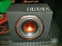 Edge subwoofer 750w built in amp