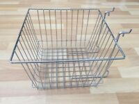 Gridwall baskets, medium and large