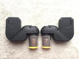 iCandy Peach 1 2 3 Lower Car Seat Adaptors Maxi Cosi / BeSafe compatible Black - Very Good Condition