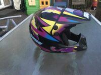 Child/youth motocross fullface helmet