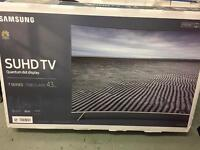 "Samsung 43"" curved 4k SUHD smart led tv ue43ks7500"