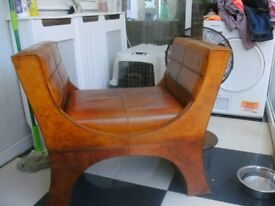 leather emperors chair