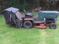 Atco 12 36 garden tractor. Ride on mower with sweeper & grass collector -lawnmower
