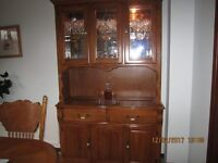 Display unit to match dining table and 6 chairs
