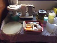 job lot of vintage tupperware