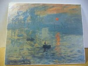 "Claude Monet ""Sunrise, An Impression"" Painted 1872 Art Print"