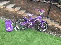 Girls purple bike 16inch great condition