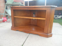 Solid hardwood TV corner unit.Great as it is or ideal for shabby chic project