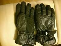 Genuine leather ski gloves