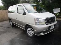 00V NISSAN ELGRAND X 3.0 AUTO DIESEL 8 SEATER WHITE/SILVER LOW 52K NR PRESTINE A1 DRIVE TOW BAR PX