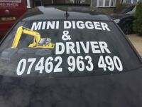 MINI DIGGER AND DRIVER==price only