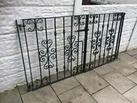 set of good quality wrought iron driveway gates with all hinges and brackets ready to fit £55