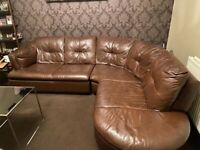 Coner sofa set with Pouffe