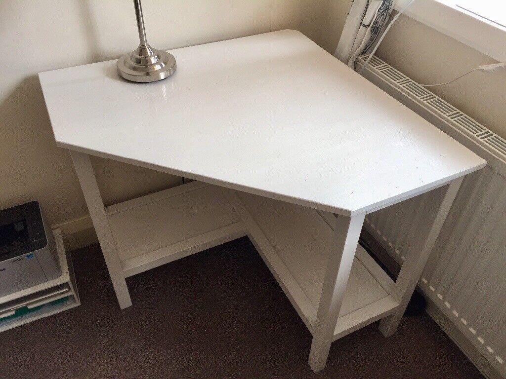 Ikea Corner Desk In White Ivar Hemnes Computer Laptop Writing Solid Wood