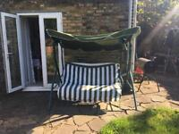 3 seater swing with own matress
